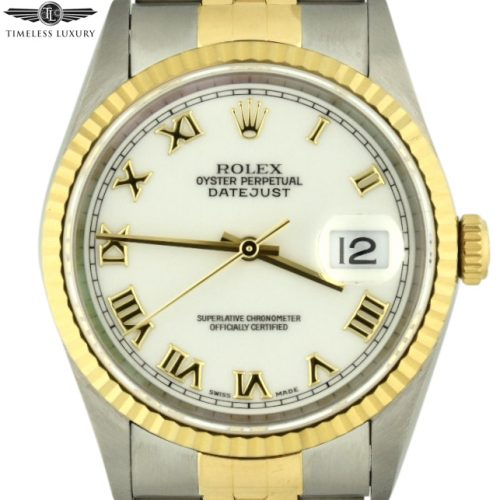 1995 Rolex Datejust White Silk Shantung Dial
