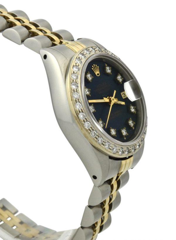Ladies Rolex Datejust Blue diamond dial