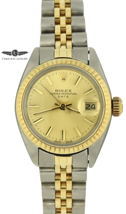 1979 Ladies Rolex Date 6917 Champagne dial