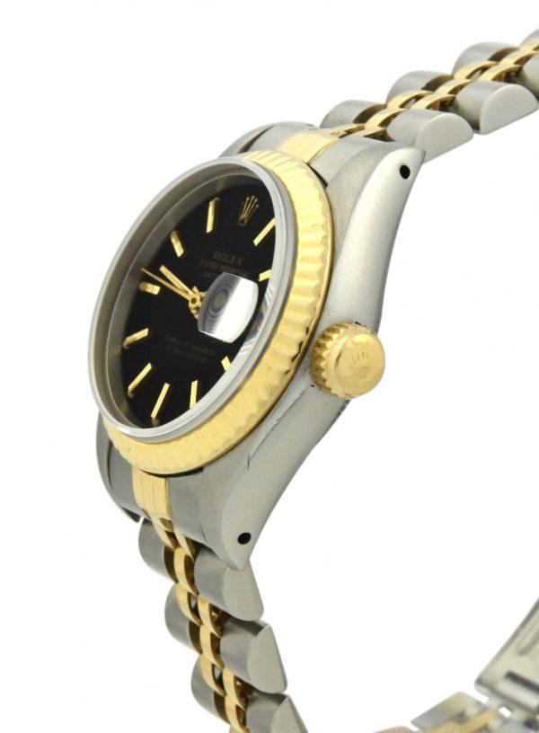 Ladies Rolex Datejust 69173 black dial 26mm