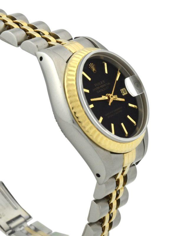 Ladies Rolex Datejust 69173 black dial