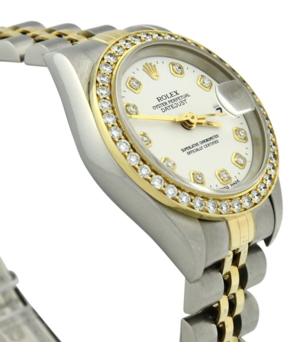 Ladies Rolex datejust 69173 diamond bezel