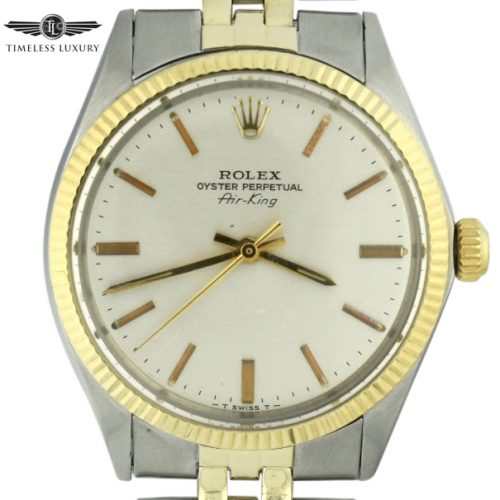 Vintage Rolex Air-King 5501 steel & gold for sale