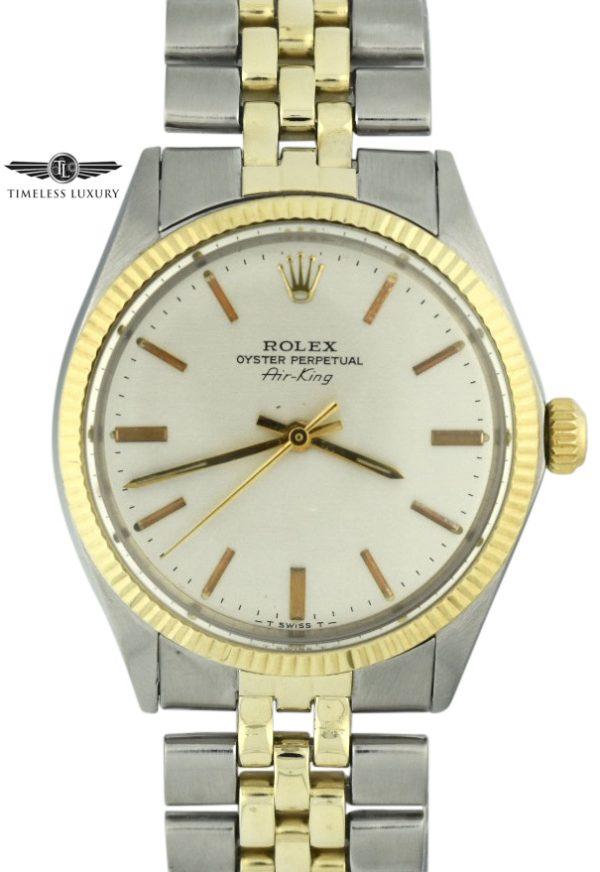 Vintage Rolex Air-King 5501 steel & gold for sale