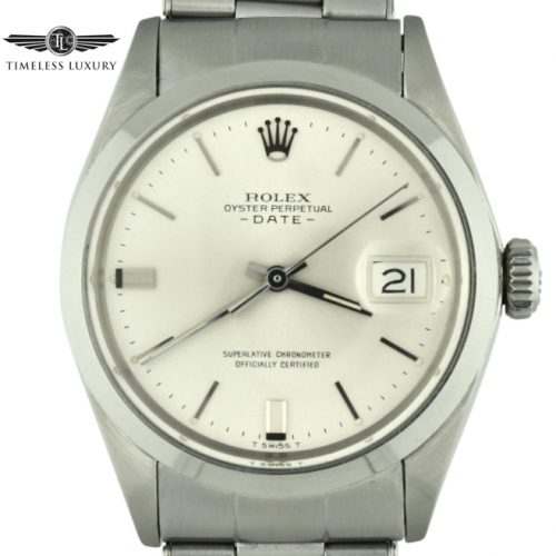 1967 Rolex Date 1500 Silver dial for sale