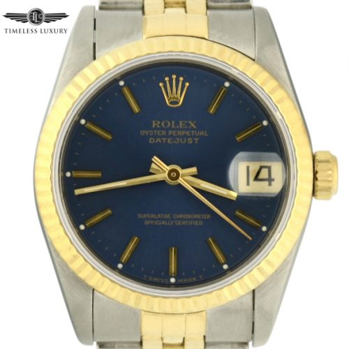 1995 Rolex Datejust Midsize 31mm blue dial for sale