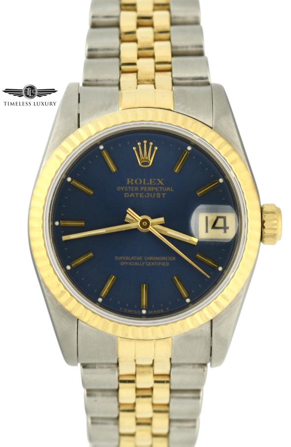 1995 Rolex Datejust Midsize 31mm blue dial for sale