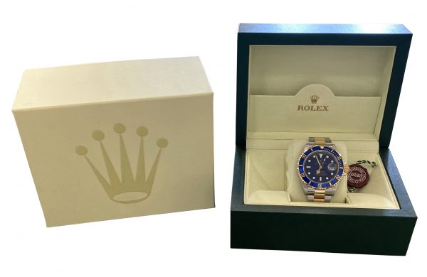 NEW 2005 Rolex Submariner 16613 blue dial for sale