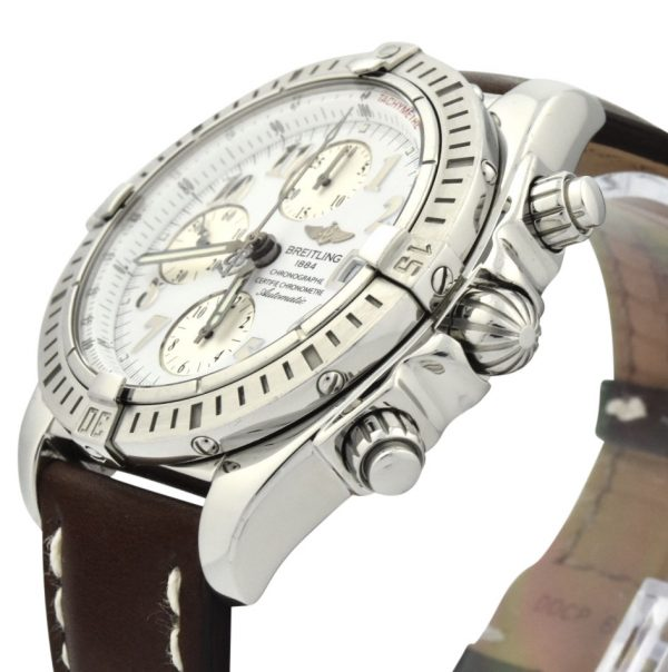 Breitling chronomat evolution a13356 white dial