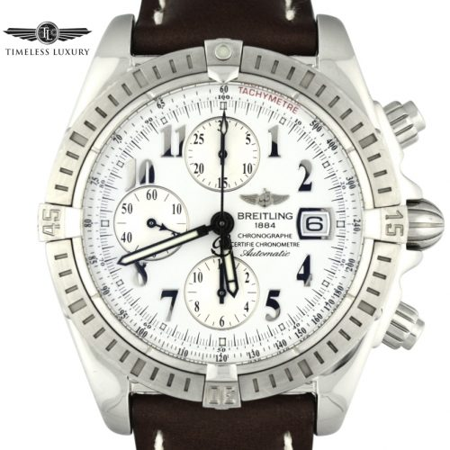 Breitling Chronomat evolution A13356 white dial watch
