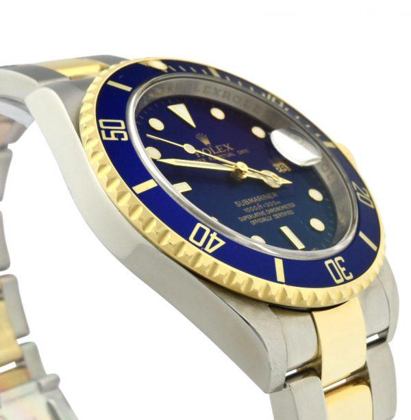2007 Rolex Submariner 16613LB Inner Engraved Rehaut