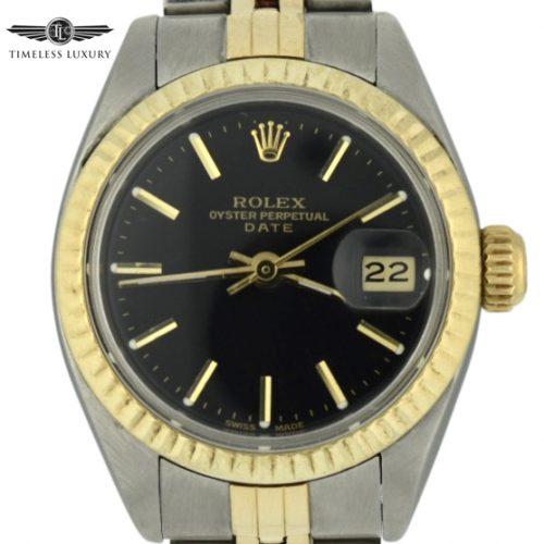 1977 Ladies Rolex Datejust 6917 black dial