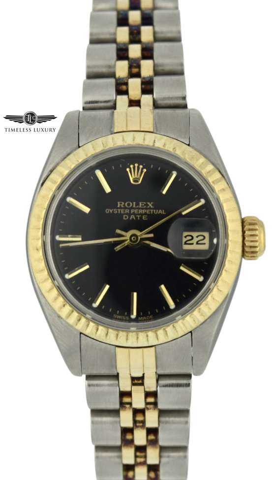 1977 Ladies Rolex Datejust 6917 black dial