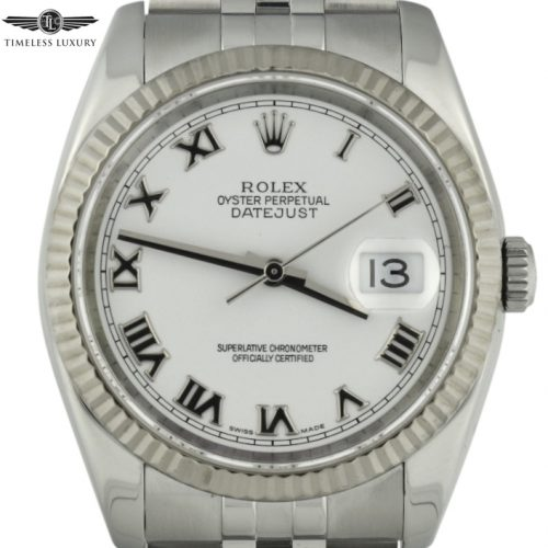 2005 Rolex Datejust 36mm 116234 white dial