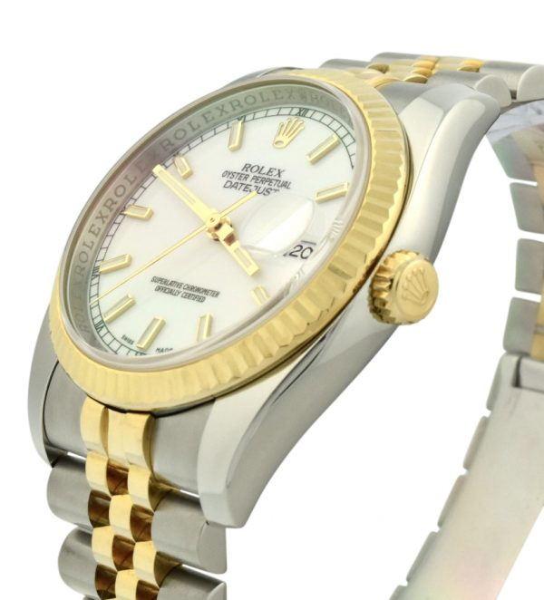 2006 rolex datejust 116233 white dial