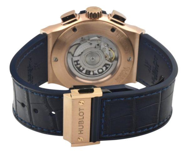 Hublot classic fusion rose gold blue dial 521.OX.7180.LR