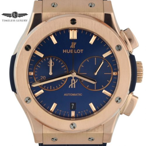 Hublot Classic Fusion Chronograph Blue dial 45mm rose gold