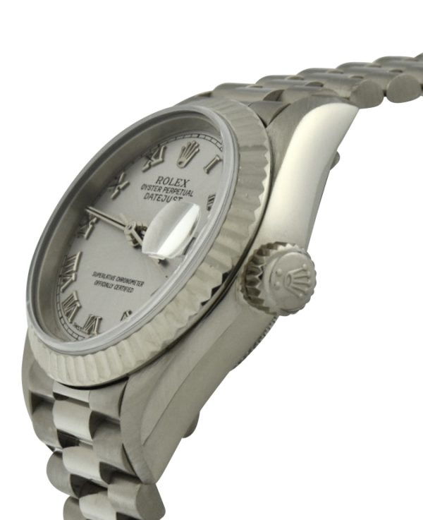 Ladies Rolex President 18k White Gold 79179
