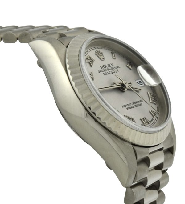 2000 Ladies Rolex President 18k White Gold 79179