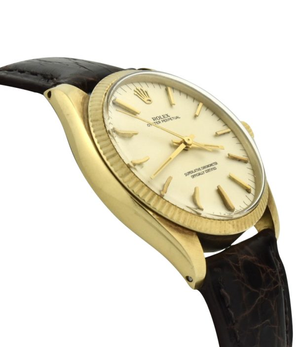 Vintage Rolex Oyster Perpetual 1005 14k gold watch