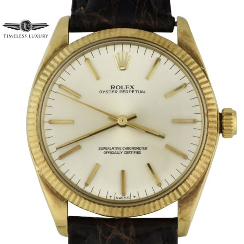 1973 Rolex Oyster Perpetual 1005 yellow gold watch for sale