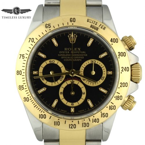 1999 Rolex Daytona 16523 Black dial zenith watch