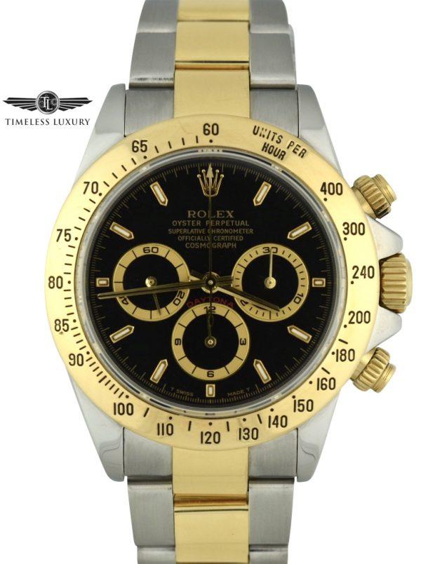 1999 Rolex Daytona 16523 Black dial zenith watch