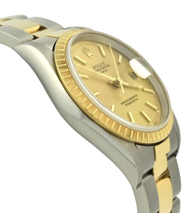 2002 Rolex Oyster Perpetual Date 15223 steel & 18k gold