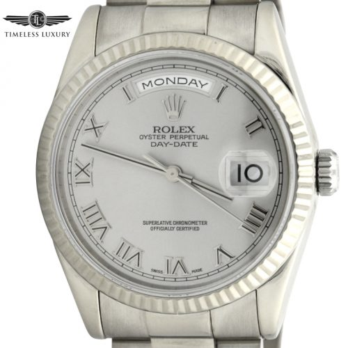 2000 Rolex Day-Date President 118239 18k White Gold for sale