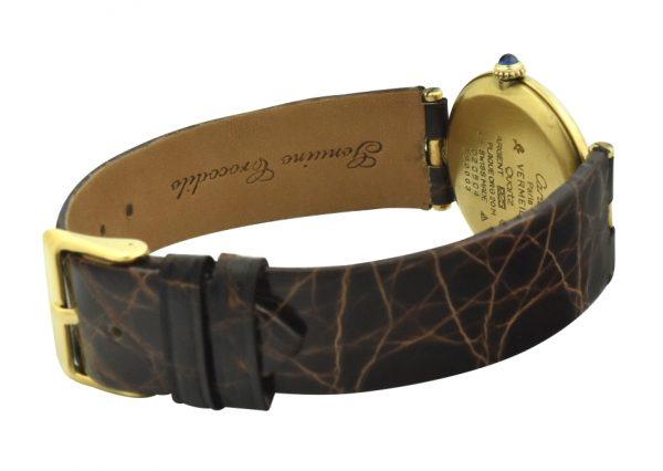 Cartier Round gold vermeil quartz watch