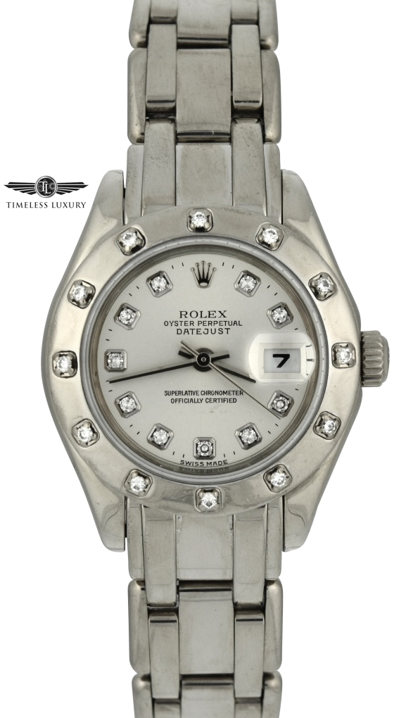 1999 Rolex Pearlmaster 80319 29mm white gold watch for sale
