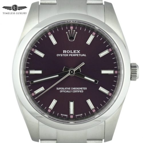 Rolex 114200 Red Grape dial for sale