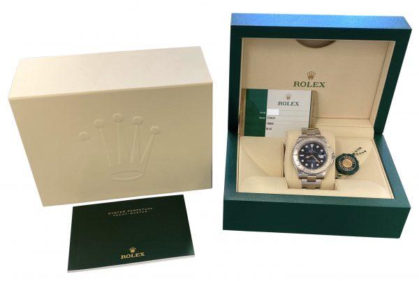 Men's Rolex Yachtmaster 116622 blue dial platinum bezel for sale