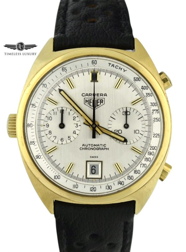 Vintage Heuer Carrera 1158 Automatic Gold Watch