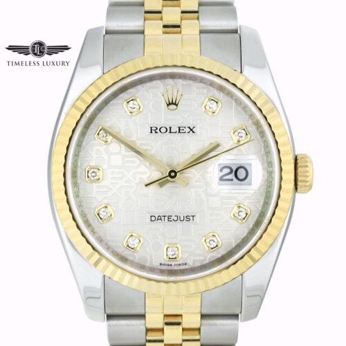 Rolex Datejust 116233 Silver Diamond Jubilee Dial
