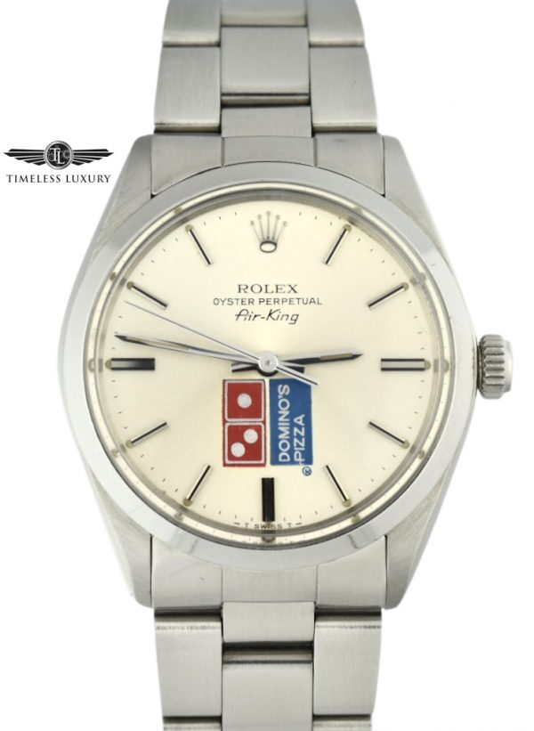 Rolex Air-King 5500 Dominos Pizza Logo Dial