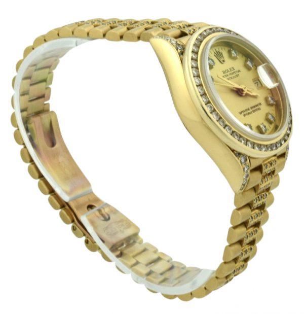 Ladies Rolex president diamond watch 69178