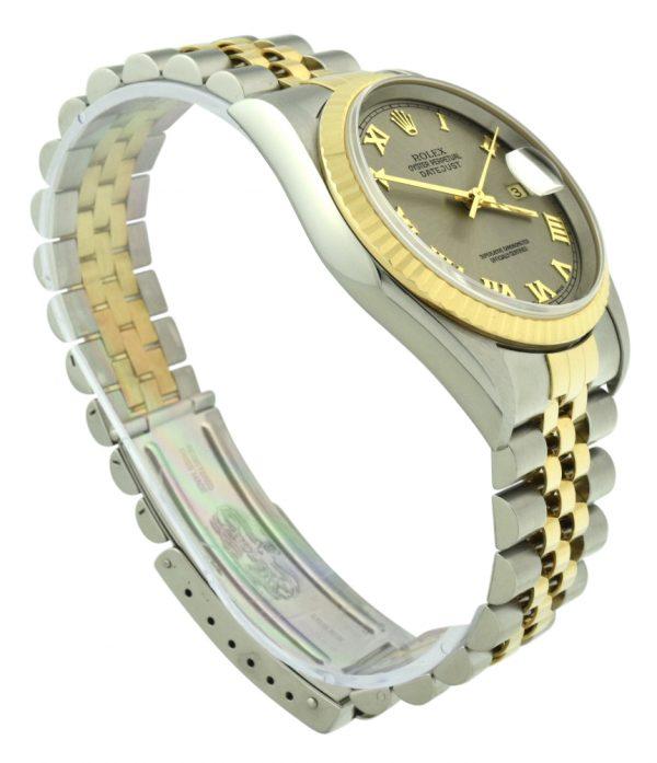 Rolex datejust 16233 steel grey dial