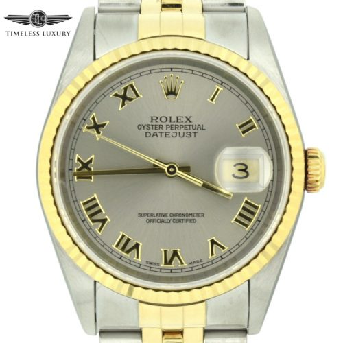 2002 Rolex datejust 16233 steel dial