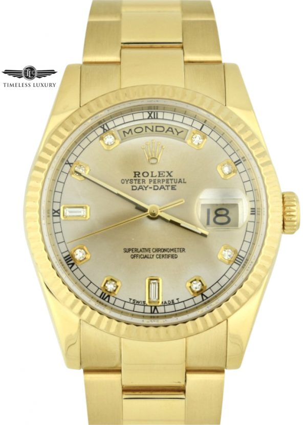 2001 Rolex Day-Date President 118238 oyster band