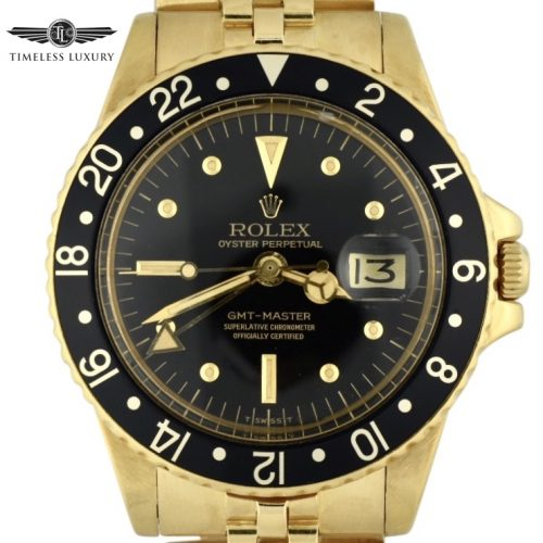 1977 Rolex GMT-Master 1675 18k yellow gold