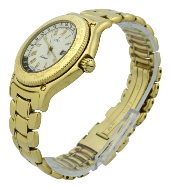 Ebel Voyager 8124913 GMT 18k Yellow Gold 38mm Automatic Watch