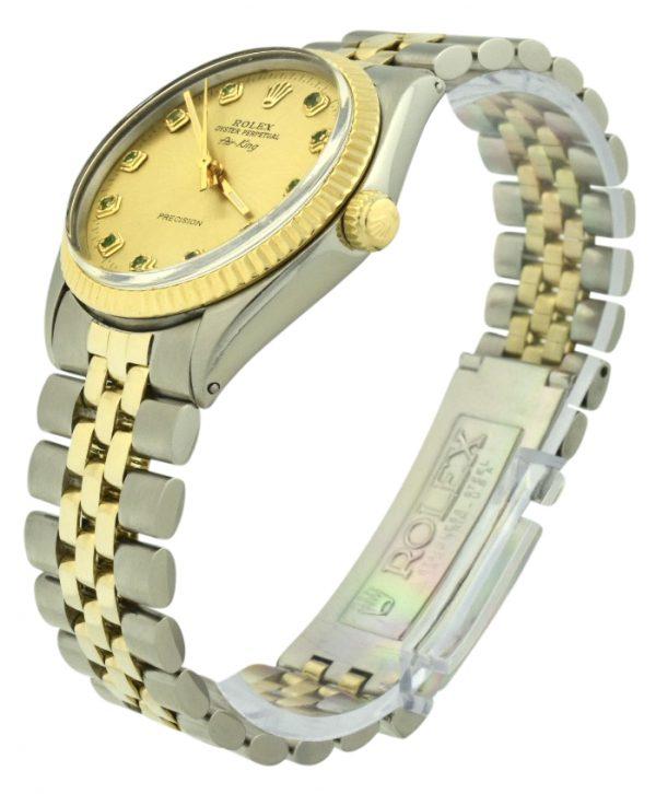 Rolex air-king 5500 emerald dial