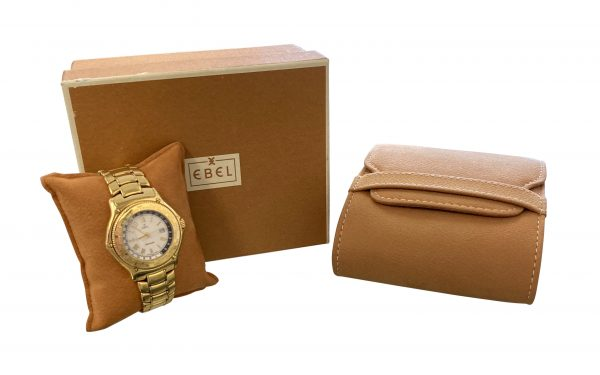 Ebel Voyager 8124913 GMT 18k Yellow Gold Automatic Watch For Sale