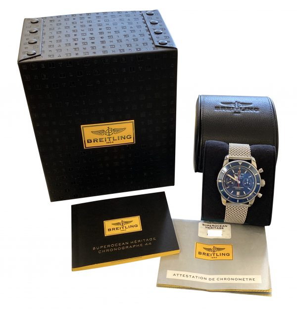 Breitling superocean heritage chronograph 44mm blue dial
