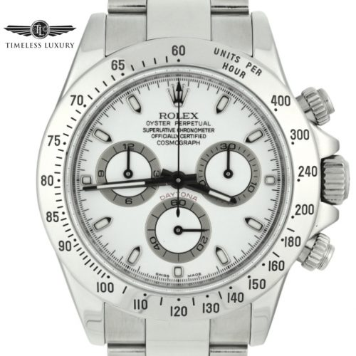 2008 Rolex Daytona 116520 white dial for sale