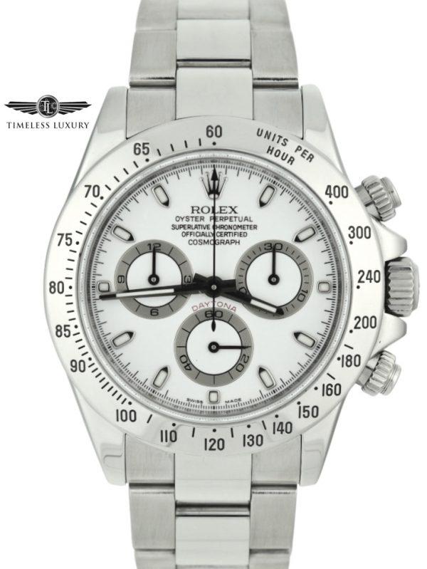 2008 Rolex Daytona 116520 white dial for sale