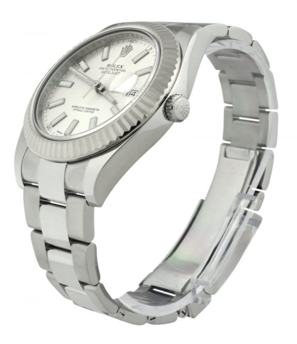 Rolex datejust 41mm 116334 silver dial