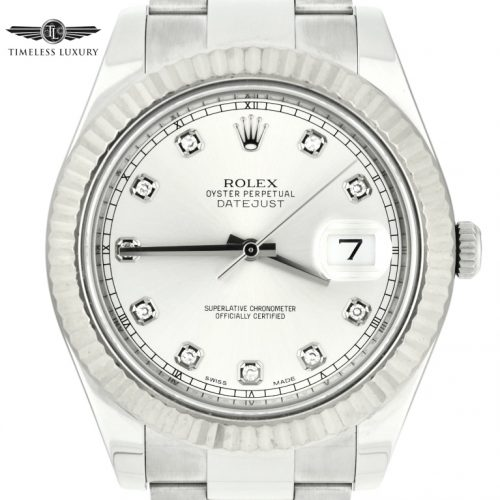Rolex datejust II 41mm 116334 factory diamond dial