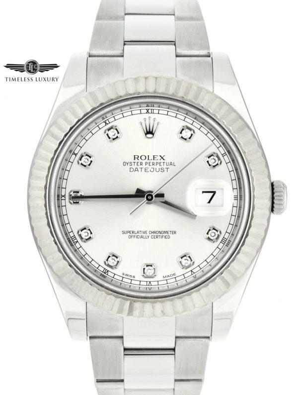 Rolex datejust II 41mm 116334 factory diamond dial